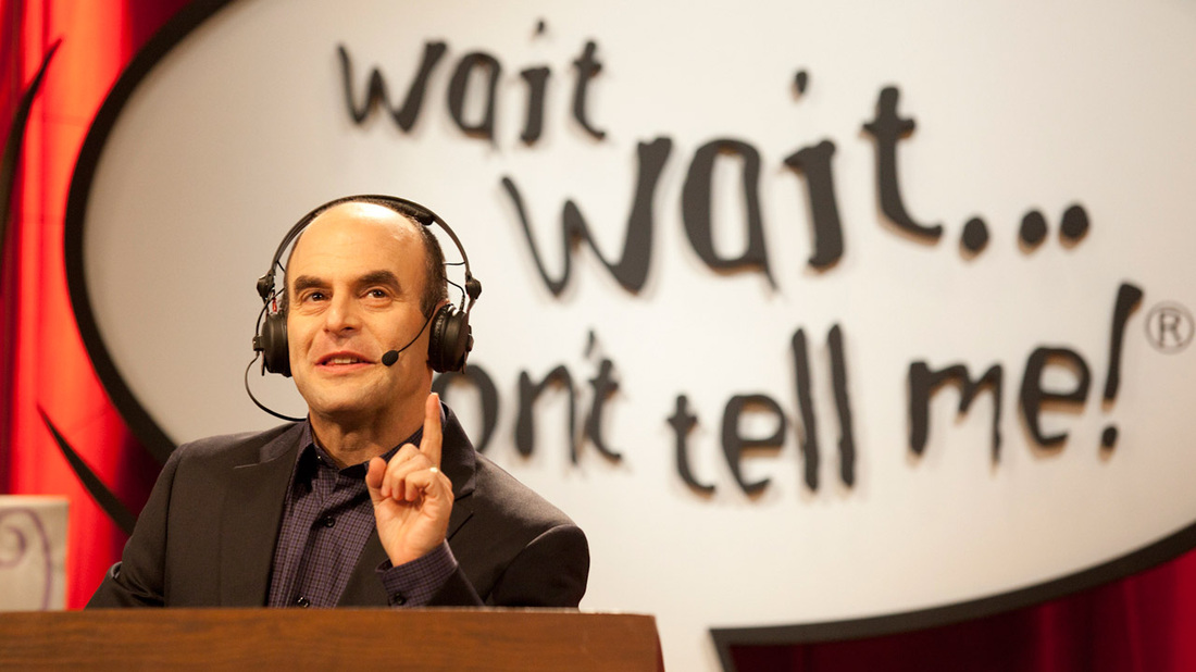 Peter Sagal during a taping of Wait Wait... Don't Tell Me!